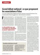 Grand débat national : ce que proposent les associations d'élus